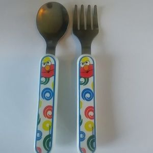First Years Other - Toddler Elmo Spoon Fork Set